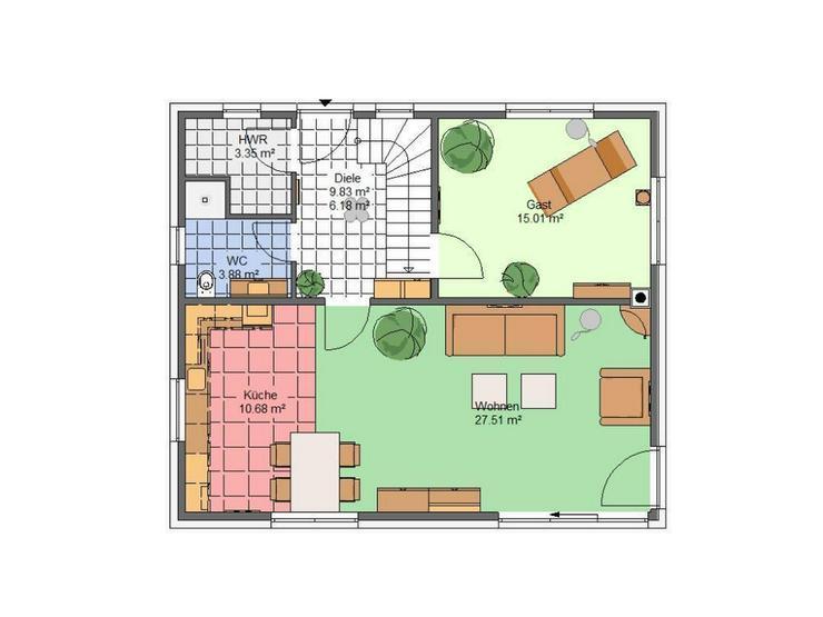 Bild 5: Wohnen im grünen Radensleben *Haus Hortensie**, inkl. Luftwärmepumpe