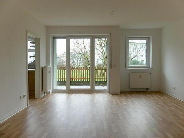 (12537_19) MGN: kleine 1-Raum-Wohnung mit separater Küche und Terrasse zum ruhigen, grün...