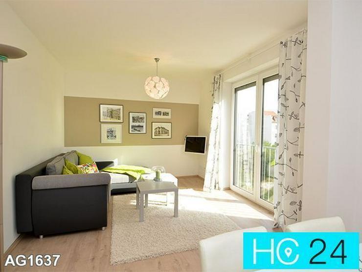 * TERRASSE (11m²) + sonnige und TOP-möblierte Wohnung in Leipzig + PKW-Stellplatz