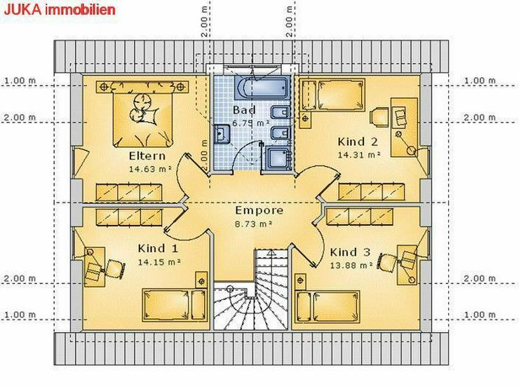 Bild 3: Satteldachhaus als ENERGIE-Plus-Speicher-HAUS ab 715,- EUR