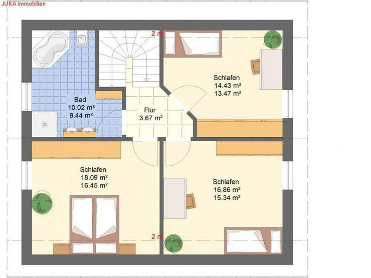 """Bild 3: Satteldachhaus Energie-""""Speicher-Plus""""-Haus 130 in KFW 55, Mietkauf/Basis ab 724,-EUR mt."""