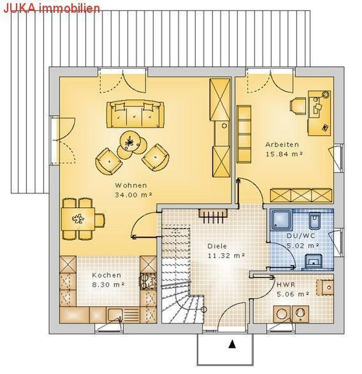 """Bild 6: Satteldachhaus Energie-""""Speicher-Plus""""-Haus 120 in KFW 55, Mietkauf/Basis ab 1060,-EUR mtl..."""