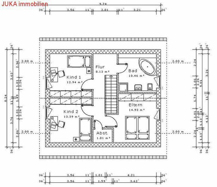 """Bild 5: Satteldachhaus: Energie-""""Speicher-Plus""""-Haus 150 in KFW 55, Mietkauf/Basis ab 676,-EUR mt."""