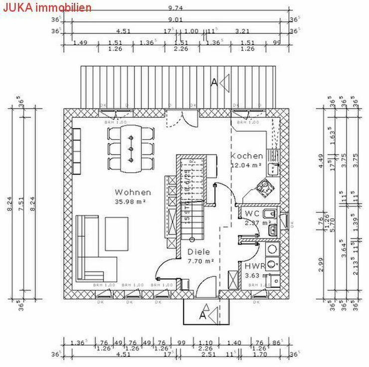 """Bild 4: Satteldachhaus: Energie-""""Speicher-Plus""""-Haus 150 in KFW 55, Mietkauf/Basis ab 676,-EUR mt."""