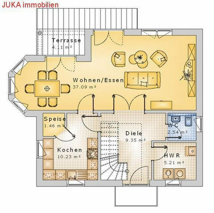 """Bild 2: Satteldachhaus: Energie-""""Speicher-Plus""""-Haus 150 in KFW 55, Mietkauf/Basis ab 785,-EUR mt."""