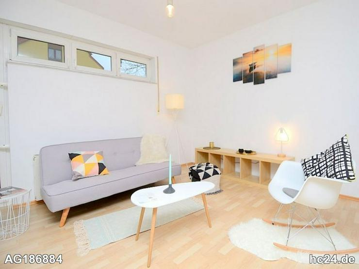 Möblierte 2,5-Zimmer Wohnung mit WLAN, Waschmaschine, Stellplatz u Terrasse in Frankfurt ...