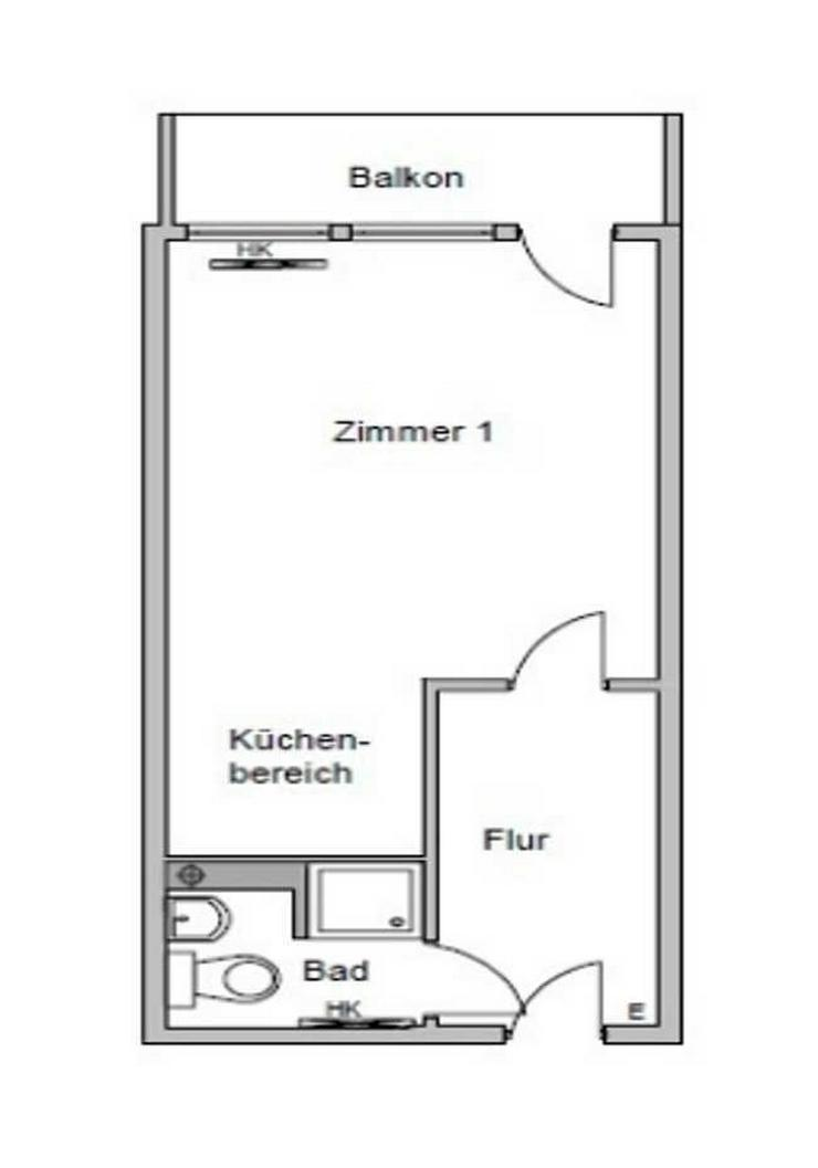 Bild 5: Modernisierte 1-Zimmerwohnung mit Einbauküche