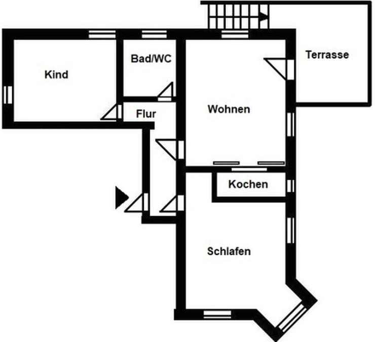 Bild 2: 3-Raum-Wohnung mit Terrasse!