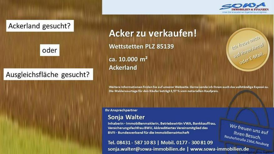 Ackerland zum bewirtschaften oder als Ausgleichsfläche - gegen Gebot - Ihre Immobilien Ex...