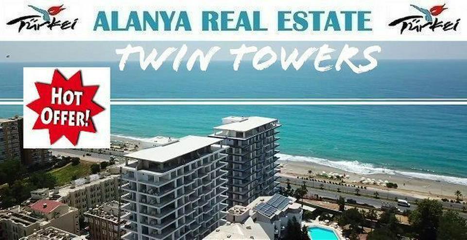 Twin Towers 2 Zimmer Duplex Luxus Wohnung direkt am Strand. - Wohnung kaufen - Bild 1