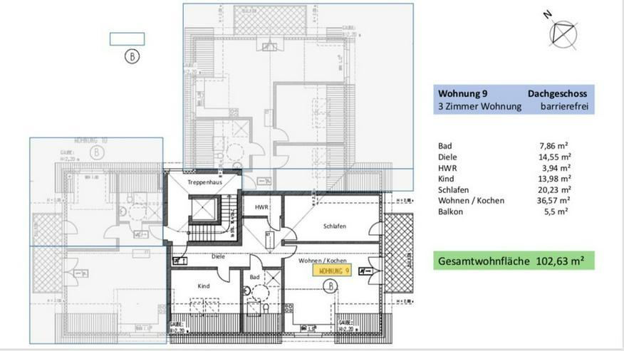 Bild 5: Extravagante 3-Zimmer- Dachgeschoss ETW in Broistedter Neubau