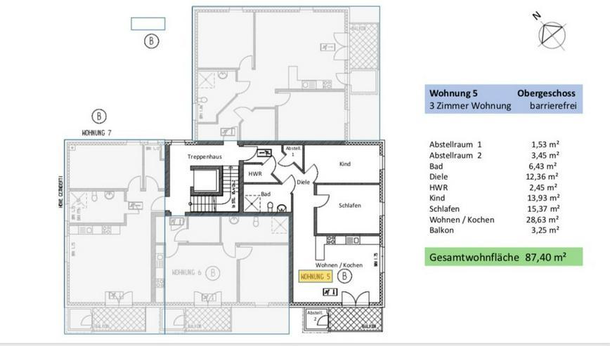 Bild 5: Wunderschöne 3-Zimmer ETW in Broistedter Neubau