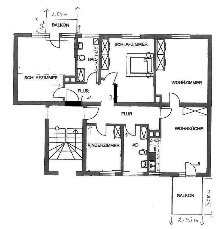 Bild 4: 4,5 Zimmerwohnung in Neuburg - Platz für die ganze Familie - Ein Eigenheim von Ihrem Immo...
