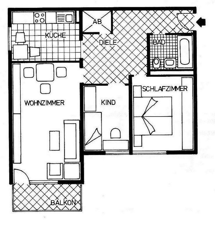 Bild 3: Neuzugang! 3 Zimmerwohnung in Neuburg - Ein Eigenheim von Ihrem Immobilienpartner SOWA Imm...