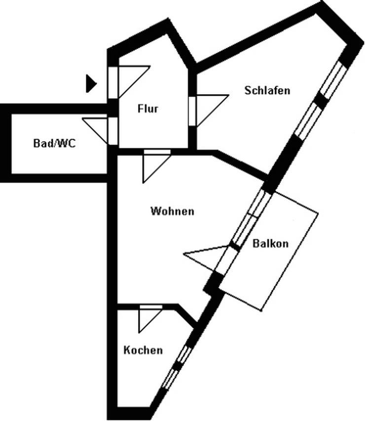 Bild 2: Kleine 2-Raum-Wohnung mit Balkon zu vermieten!