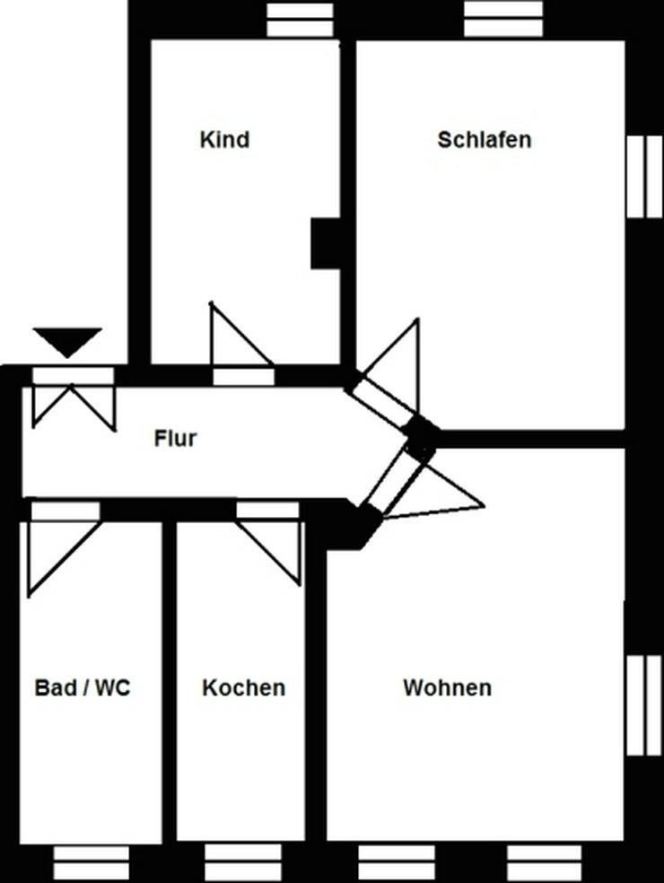 Bild 2: 3-Raum-Wohnung in zentraler Lage!