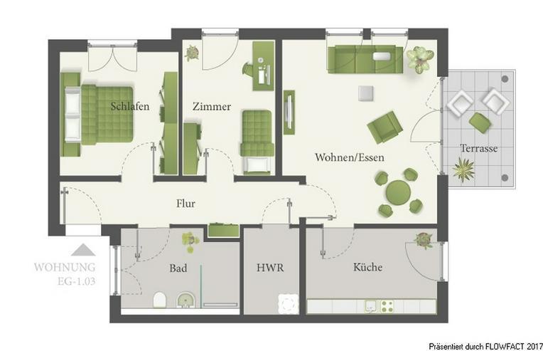 Bild 5: Lossepark - Moderne 3-Zimmer-Eigentumswohnung für abendliche Spaziergänge