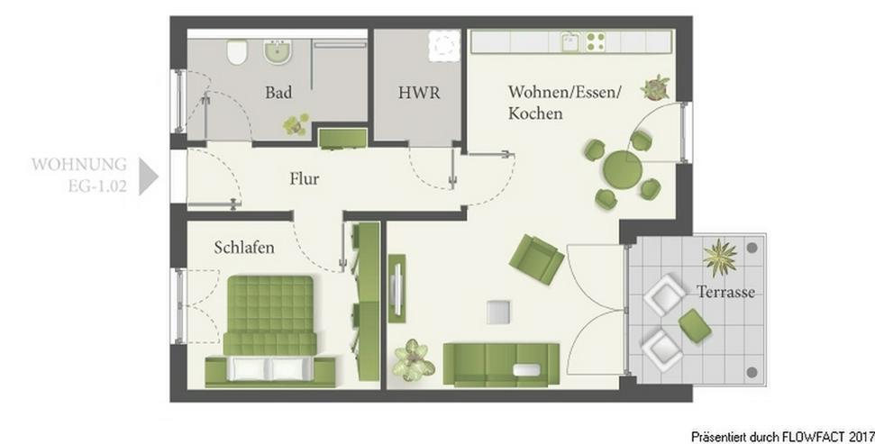 Bild 5: Lossepark - Hochwertige 2-Zimmer-Eigentumswohnung im lebendigen Ortskern