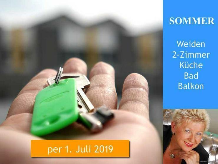 Weiden > Erdgeschosswohnung 2 Zimmer, Küche, Bad, Balkon