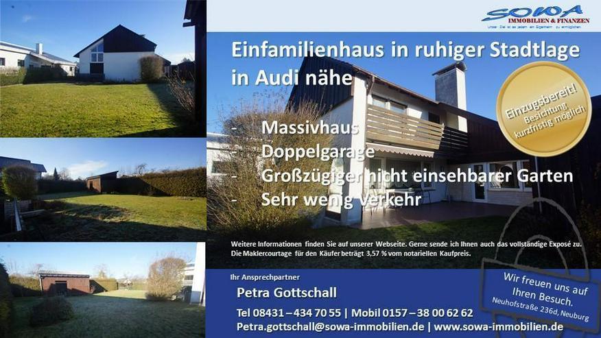 Exklusives Einfamilienhaus mit blickdichten großen Garten und großer Terrasse in Ingolst...