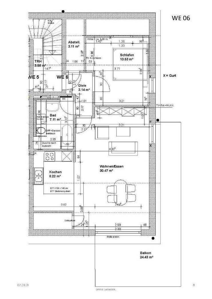 Bild 5: Neubau! Einzug im Juni - 2 Zimmer DG Wohnung in Gerolfing von ihrem Immobilienprofi in der...