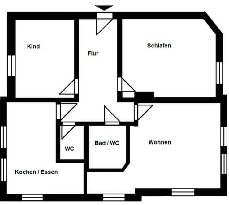 Bild 2: Geräumige 3-Raum-Wohnung in der Innenstadt!