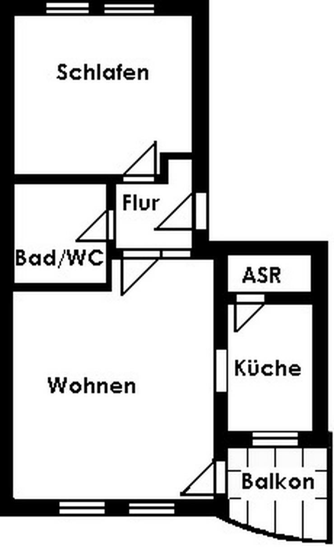 Bild 2: 2-Raum-Wohnung mit Balkon - Erstbezug nach Sanierung