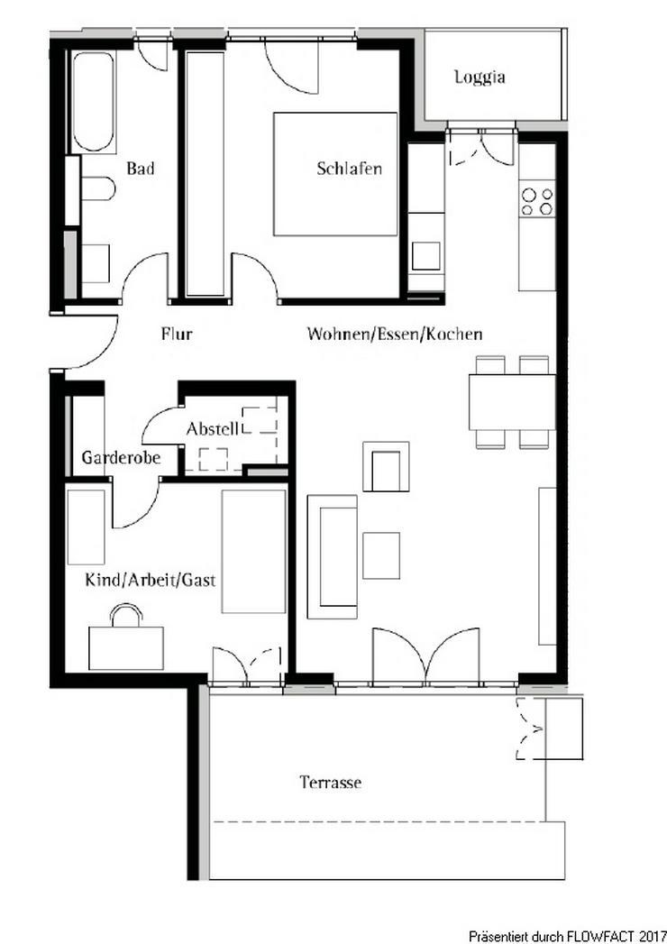 Bild 10: Bezugsfreie - Moderne 3-Zimmer-Wohnung in Frankfurt Höchst