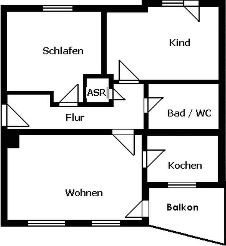 Bild 2: 3-Raum-Wohnung mit Balkon und Stellplatz!