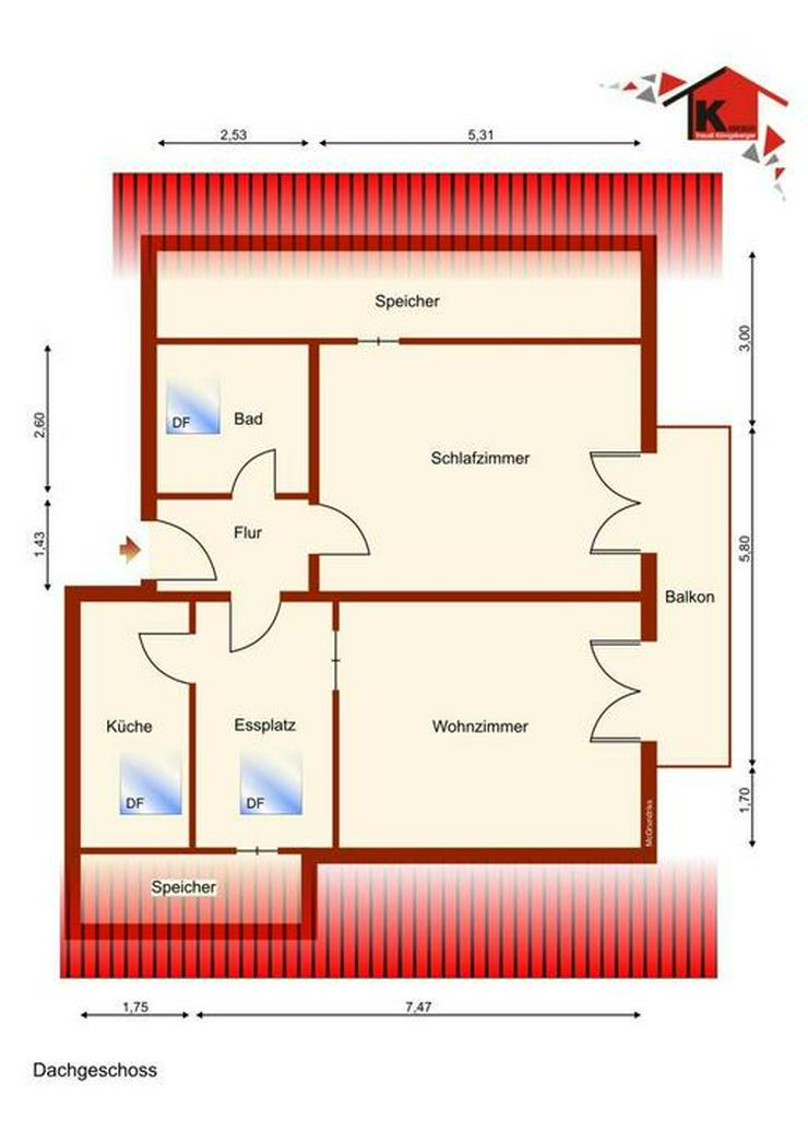 Wohnen unterm Dach - Wohnung kaufen - Bild 7