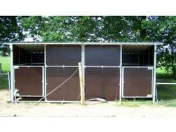 Pferde doppel Au�enbox mobil zerlegbar - Unterst�nde & Z�une - Bild 1