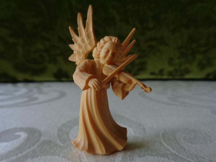 kleine Engel-Figur mit Geige bzw. Violine, Weihnachtsengel, Krippenfigur, =NEU=
