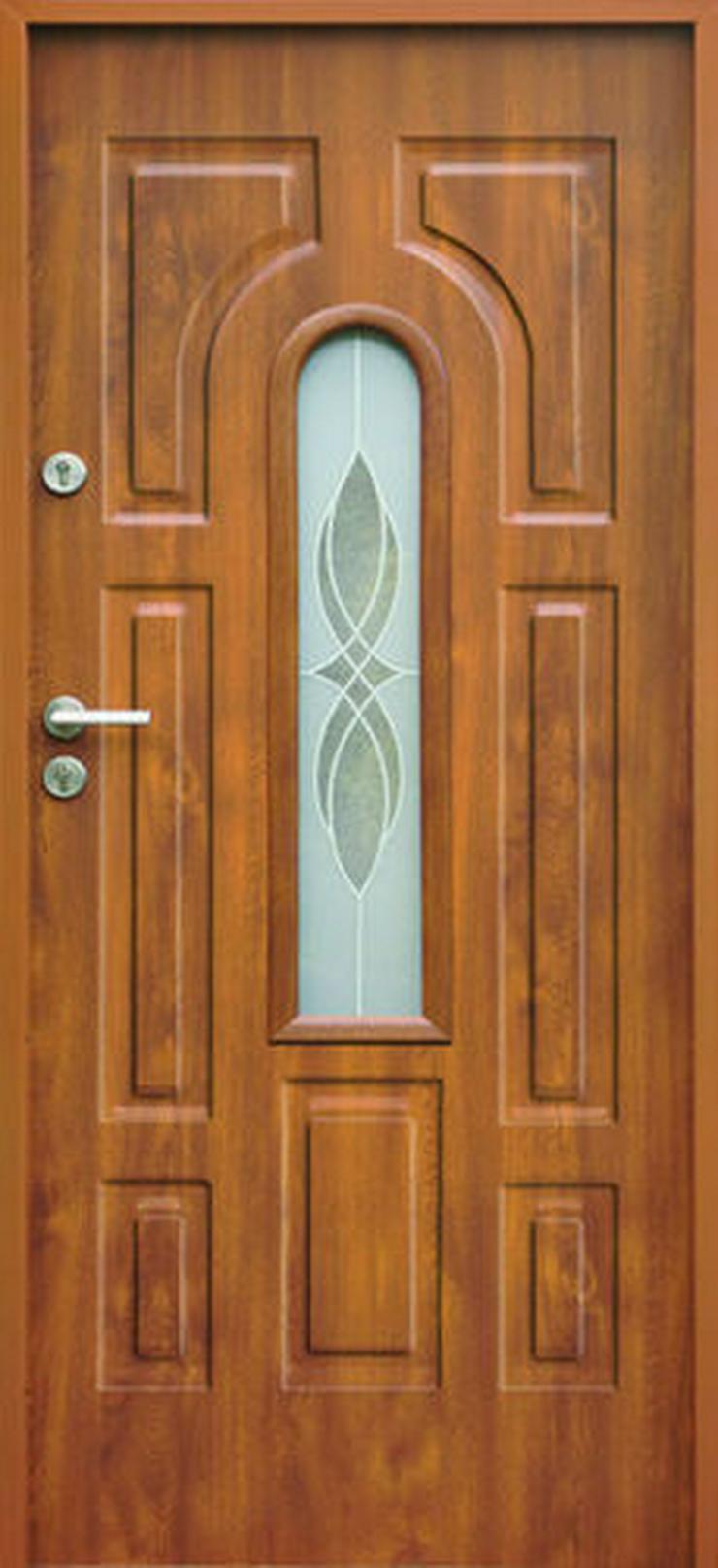Bild 6:  Eingangstür Haustür Stahltür Wohntür Tür 70 80 90 100 Breite 7Farben 52mm Opus W3