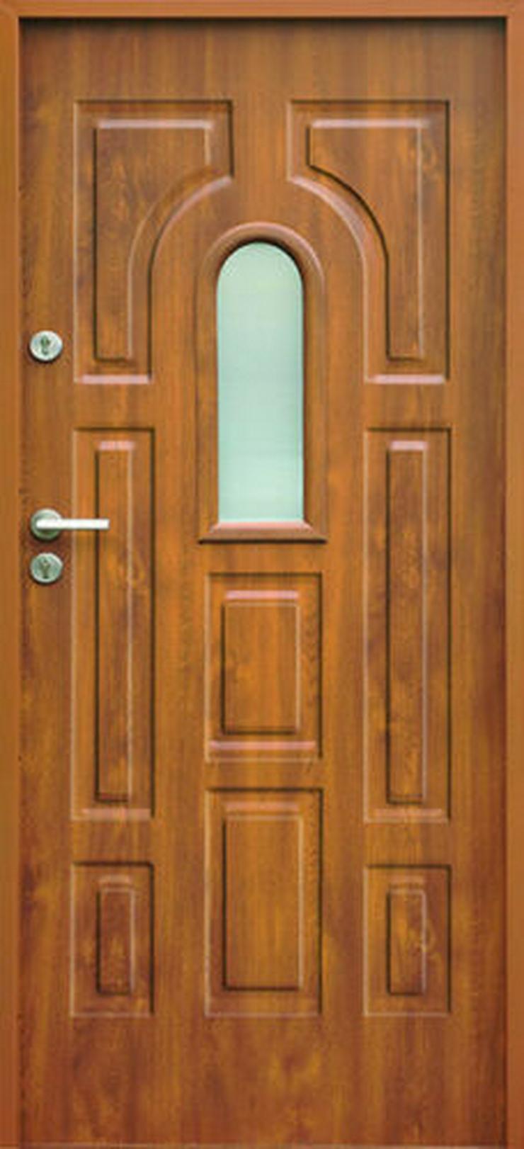 Bild 3:  Eingangstür Haustür Stahltür Wohntür Tür 70 80 90 100 Breite 7Farben 52mm Opus W3