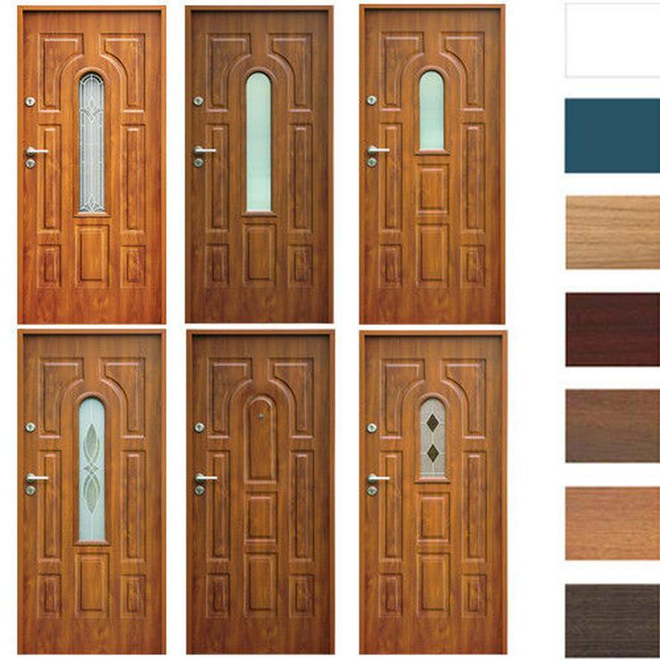 Eingangstür Haustür Stahltür Wohntür Tür 70 80 90 100 Breite 7Farben 52mm Opus W3  - Türen - Bild 1