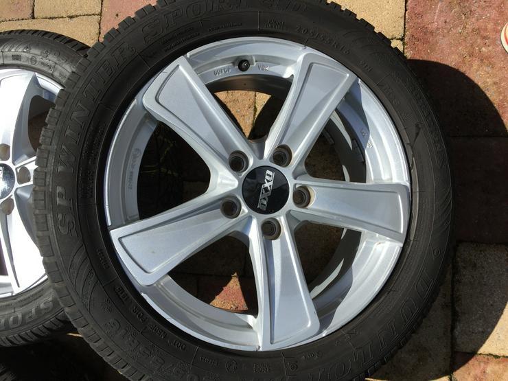 Bild 3: Winter Alu Räder für Golf Seat Skoda u andere, Dunlop 205/55 R16 6 u 8mm sper Zustand