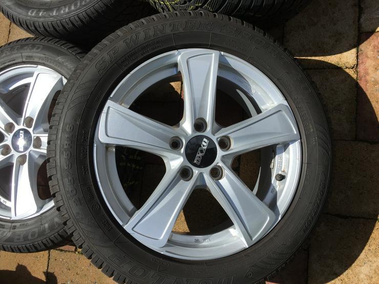 Bild 2: Winter Alu Räder für Golf Seat Skoda u andere, Dunlop 205/55 R16 6 u 8mm sper Zustand