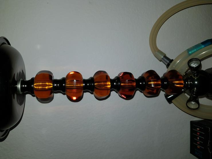 Bild 1: Shisha, rot, Glas, mit viel Zubehör