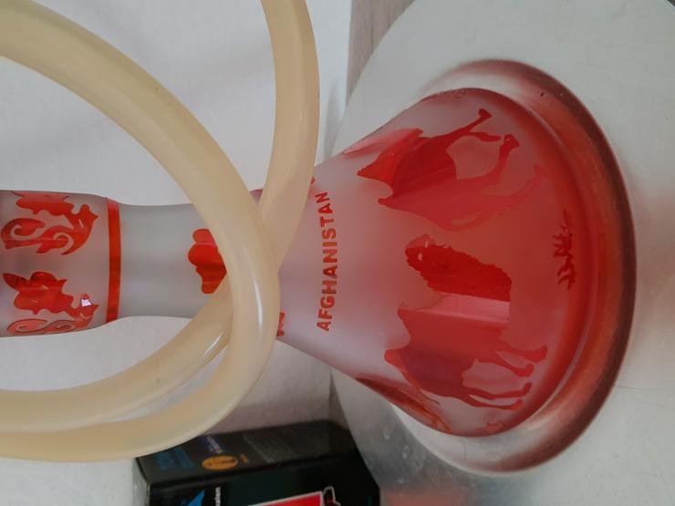 Shisha, rot, Glas, mit viel Zubehör - Weitere - Bild 6