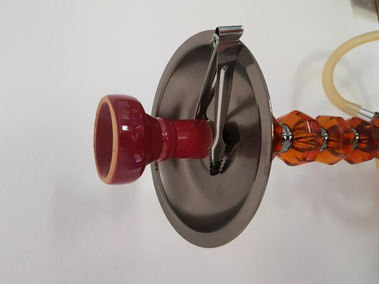 Bild 5: Shisha, rot, Glas, mit viel Zubehör