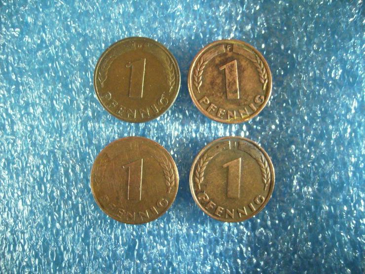 Bild 3: kompletter Münzen-Satz »1 PFENNIG« (D+ F + G + J) Deutschland von 1948 !!!