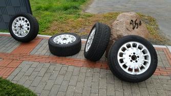 4x Kompletträder Mercedes (Alu) Winterreifen Hankook 225/55R16