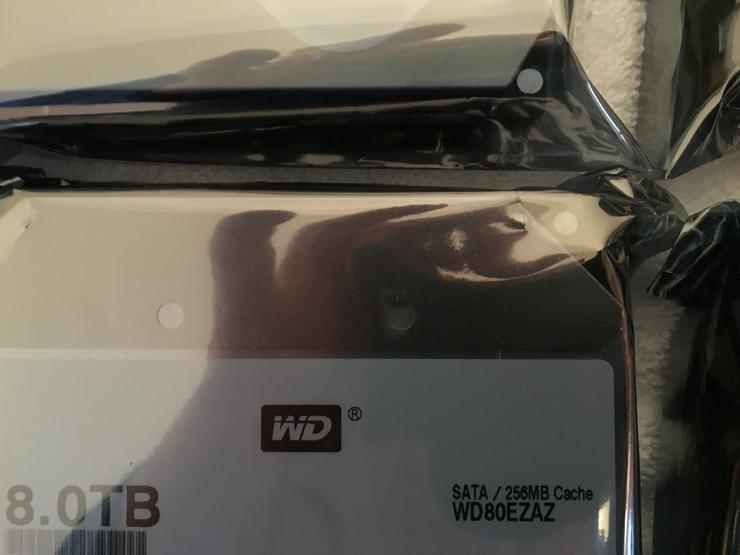 WD Festplatte 8TB HDD NAS 8000 GB WD80EZAZ - NEU & OVP (Bulk)