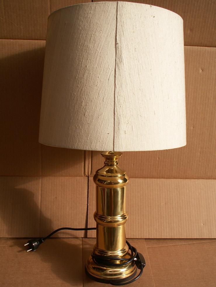 Beistellampe, 67 cm, messing, alt, funktionsfähig