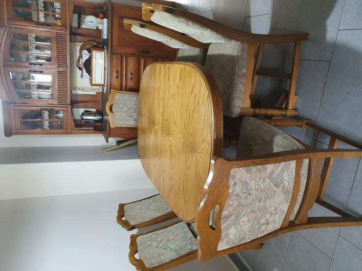 Massivholz Esstisch ausziehbar mit 6 Stühlen