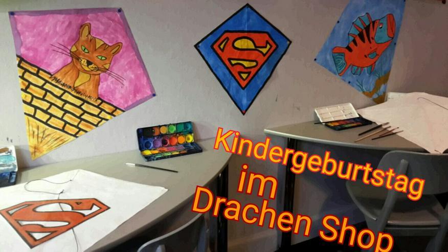 Bild 2: Im Kindergarten einen Drachen mit Papa / Mama basteln..oder einen Kindergeburtstag im Drachenshop Mülheim Feiern.