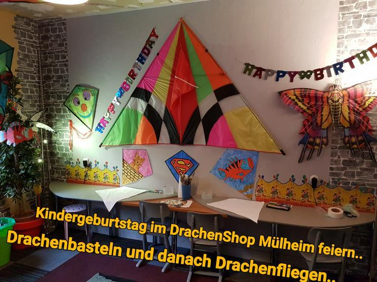 Bild 6: Im Kindergarten einen Drachen mit Papa / Mama basteln..oder einen Kindergeburtstag im Drachenshop Mülheim Feiern.