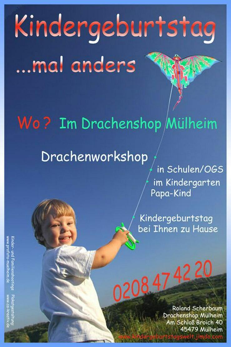 Bild 3: In der Kita / Kiga einen Drachen basteln..Papa / Kind bauen einen Drachen.oder einen Kindergeburtstag im Drachenshop Mülheim mit einem Drachenbastel Event feiern.