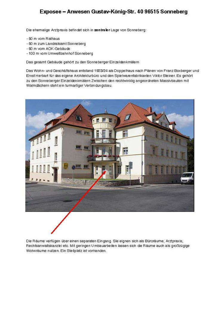 Büro/Praxisräume im Zentrum von Sonneberg (keine Maklerprovision)