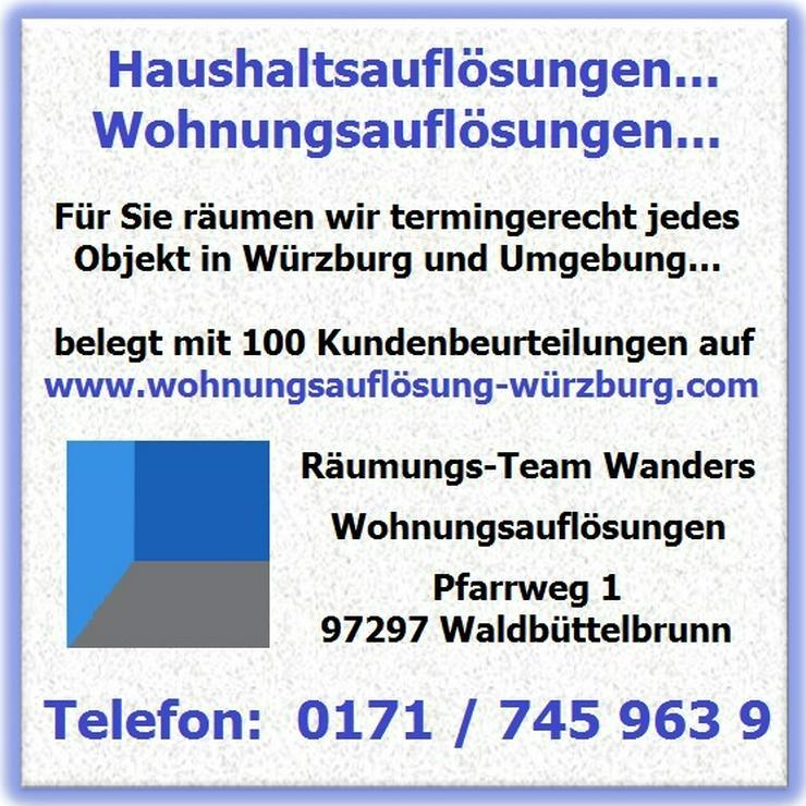Bild 5: Wohnungsauflösung Haushaltsauflösung Entrümpelung Würzburg und Umgebung